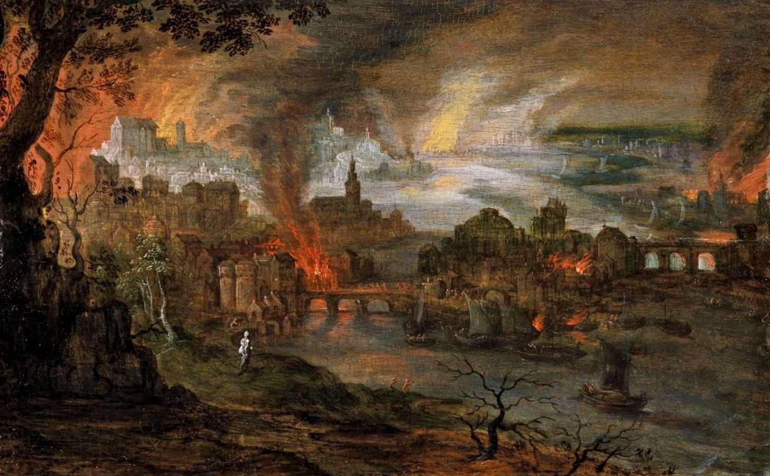 Pieter Schoubroeck - The Destruction of Sodom and Gomorrah